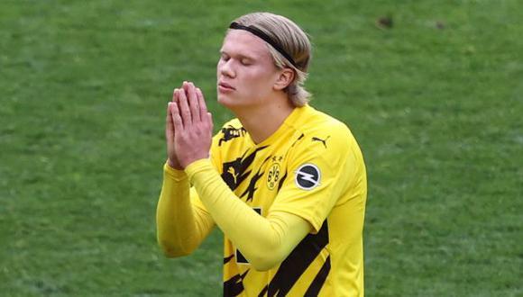 Erling Haaland tiene contrato con Borussia Dortmund hasta mediados del 2024. (Foto: AFP)