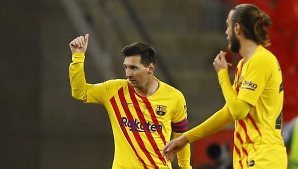 Barcelona se coronó campeón de la Copa del Rey tras vencer por 4-0 a Athletic Bilbao. (Foto: Twitter)