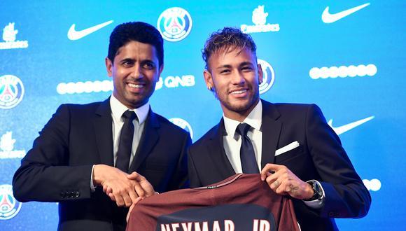 Neymar presentado en PSG (Foto: AFP)