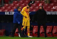 Las malas noticias no cesan: Barcelona confirma lesión de Piqué tras derrota ante Atlético Madrid