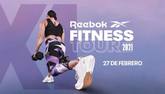 Reebok presentará el Fitness Tour 2021 este 27 de febrero. (Difusión)