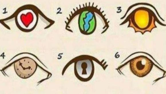 Escoge uno de los ojos de la imagen y conoce en qué nivel está tu personalidad sobre los demás. (Foto: Facebook/Mdzol)