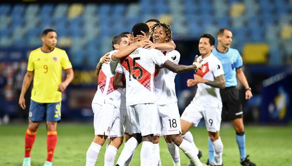 La selección peruana derrotó 2-1 a Colombia y así quedó la tabla de posiciones del grupo B de la Copa América | Foto: AFP