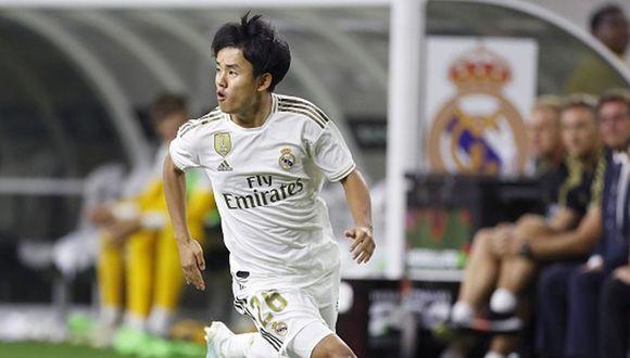 Take Kubo llegó al Real Madrid con 18 años procedente del Tokyo F.C. (Getty)