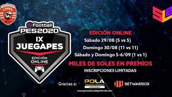 PES 2020: el JUEGAPES IX se renueva a una versión online debido al coronavirus. (Foto: Liga Peruana de PES)