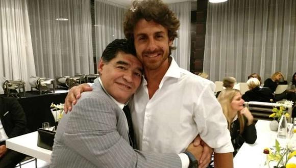 El recuerdo de Pablo Aimar con Diego Maradona. (Foto: Twitter)