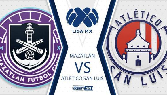 Mazatlán vs. Atlético San Luis se miden en la jornada seis de la Liga MX. (Foto: Depor)