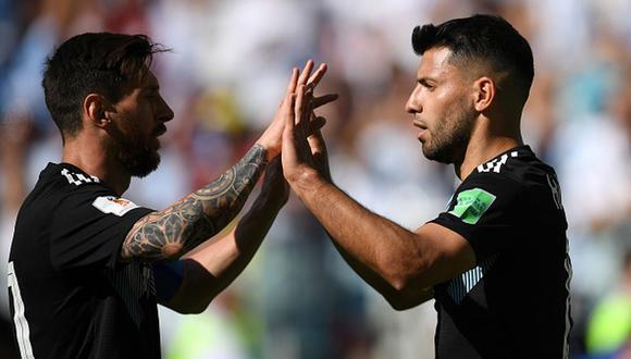 Sergio Agüero y Lionel Messi han jugado juntos en la selección de Argentina. (Getty)