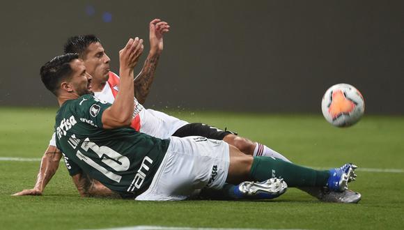 Palmeiras jugará la final de la Copa Libertadores tras caer 2-0 ante River en Brasil. (Twitter)
