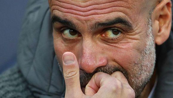 Josep Guardiola sumó su sexta temporada sin el título de la Champions tras salir del Barcelona. (Getty)