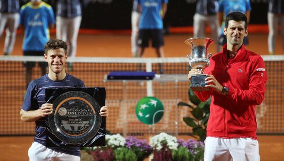 Novak Djokovic sumó nuevo récord tras ganar el Masters 1000 de Roma. (Reuters)