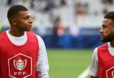 """""""Mi 'bro'"""": Neymar dedicó un cariñoso mensaje a Kylian Mbappé, diagnosticado con esguince de tobillo"""