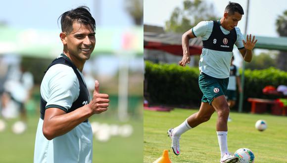 Enzo Gutiérrez y Alex Valera estuvieron desde el arranque en el último partido de práctica (Foto:Universitario)