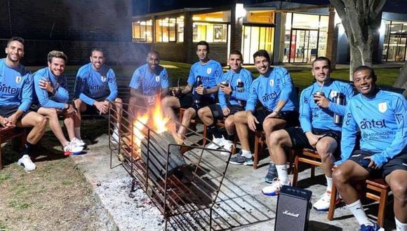 Así se prepara Uruguay para enfrentar a Brasil (Foto: Twitter)