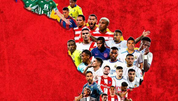 Los jugadores latinos de la Liga Santander temporada 2021/22