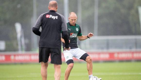 Arjen Robben había anunciado su retiro del fútbol en julio del 2019 tras varias temporadas en Bayern Múnich. (Foto: FC Groningen)