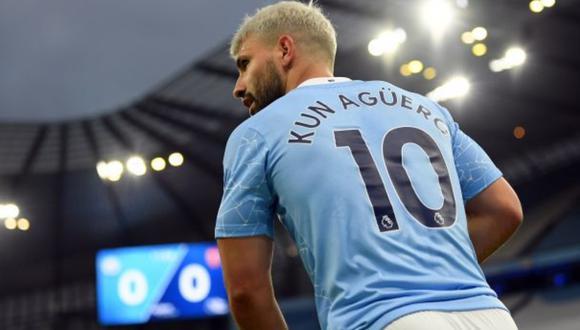 'Kun' Agüero termina contrato con Manchester City en junio de 2021. (Foto: AFP)