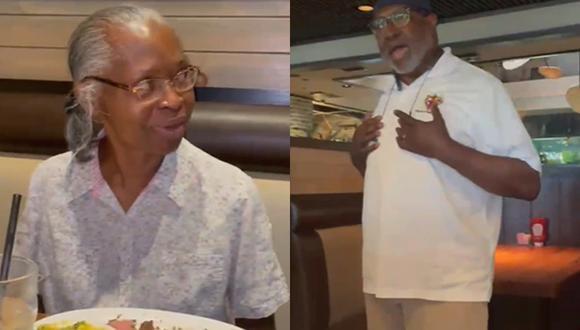 Un hombre brindó original serenata a su esposa de hace 43 años y su video se vuelve viral por el tierno gesto (Foto: Facebook)