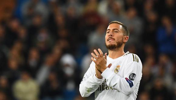 Thibaut Courtois habló sobre la situación de Eden Hazard en Real Madrid. (Foto: EFE)