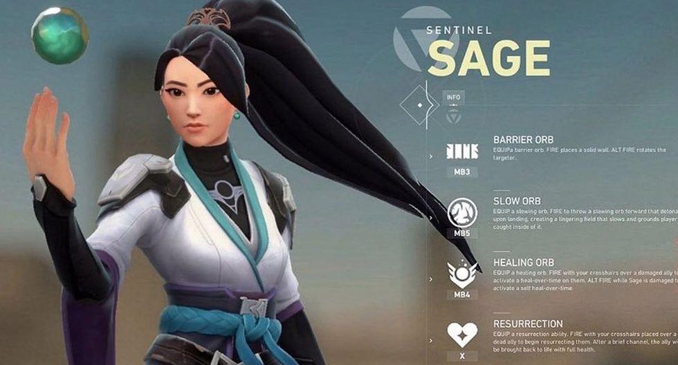 League of Legends | VALORANT: conoce a Sage, la nueva agente del shooter. (Foto: Riot Games)