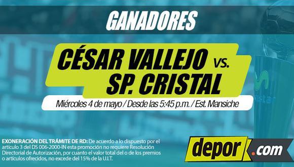 César Vallejo vs. Sporting Cristal: lista de ganadores de entradas dobles