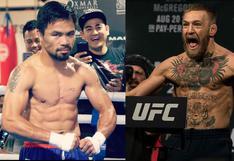 La pelea del siglo: McGregor revela que peleará con Manny Pacquiao en el Medio Oriente