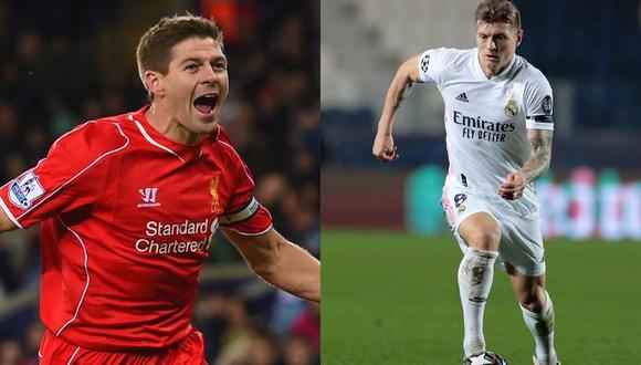 Steven Gerrard dejó el Liverpool en la misma temporada (2014-2015) que Toni Kross llegó al Real Madrid. (Fotos: Agencias)