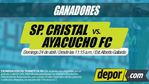 Sporting Cristal vs. Ayacucho FC: lista de ganadores de entradas