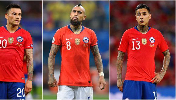 Charles Aránguiz, Arturo Vidal y Erick Pulgar conformarán el mediocampo de la Selección de Chile ante Perú. (Getty)