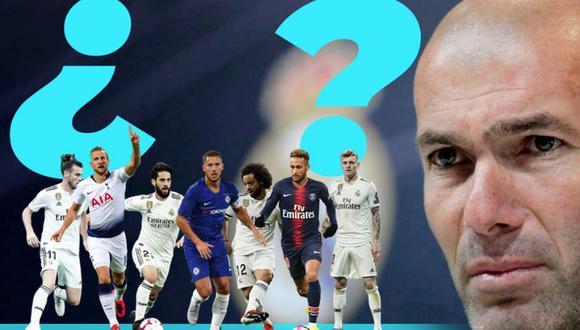 Los cuatros fichajes que quiere Zinedine Zidane para el Real Madrid. (Foto: Marca)