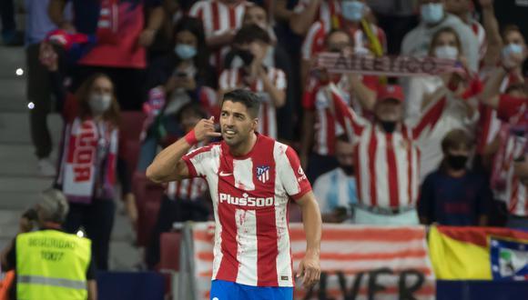 Luis Suárez celebra su gol al Barcelona con una indirecta a Ronald Koeman. (Foto: Mundo Deportivo).