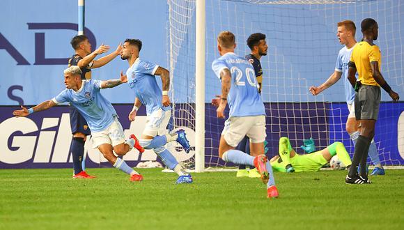 Pumas vs. New York City se vieron las caras este miércoles por la Leagues Cup 2021 (Foto: Getty Images)