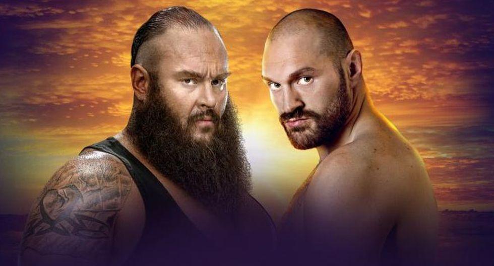 Braun Strowman vs. Tyson Fury. (Foto: WWE)