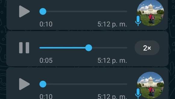 WhatsApp ya cuenta con la opción de acelerar la reproducción de los mensajes de voz. (Foto: Depor)