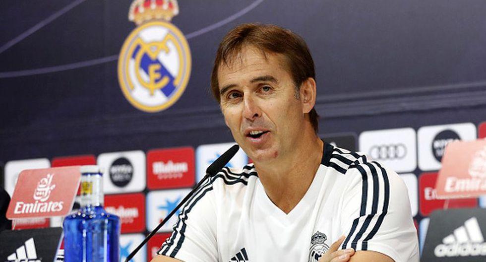 Julen Lopetegui llegó al Real Madrid tras clasificar al Mundial con España. (Getty)