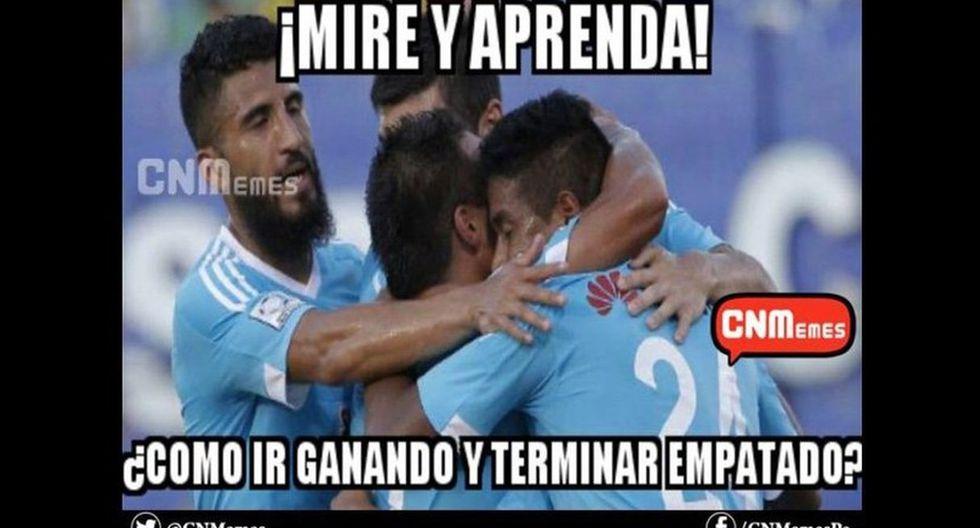 Sporting Cristal se dejó empatar sobre el final por Real Garcilaso y los memes no tardaron en aparecer (Fotos: Facebook)