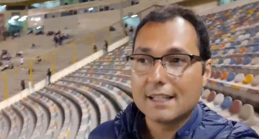 Periodista brasileño llegó al Universitario vs. Ayacucho FC (Captura)