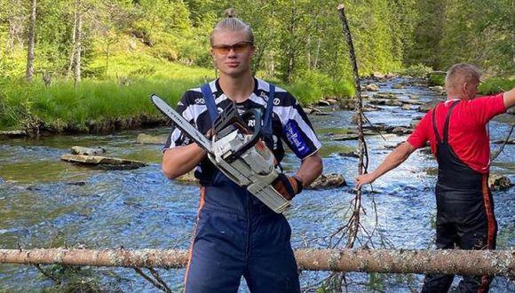 La normalidad de Erling Haaland en Noruega. (Foto: Instagram)