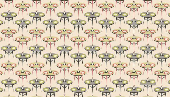 ¿Eres capaz de encontrar las mesas cuadradas en la imagen? (Foto: Noticieros Televisa)