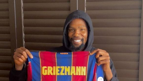 Griezmann recuperó su dorsal amada. (Foto: FC Barcelona)