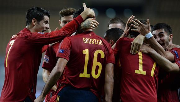 España pasó por encima a Alemania y logró clasificar a la etapa final de la Nations League.