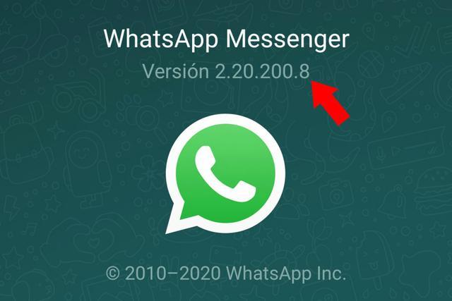 Este número es la versión de la aplicación que ha instalado en su teléfono móvil.  (Foto: Mag)