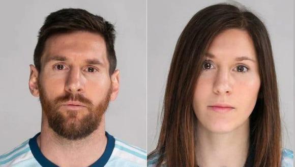 Así se ve Lionel Messi con el filtro de FaceApp. (Imagen: La Nación)