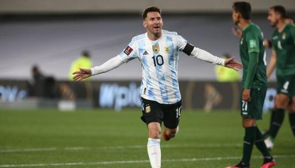 Argentina goleó 3-0 a Bolivia por Eliminatorias 2022 con tres tantos de Messi. (Foto: @AFA)
