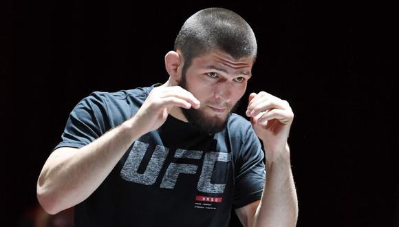 Khabib Nurmagomedov volverá a pelear en UFC en octubre de este año. (Foto: AFP)