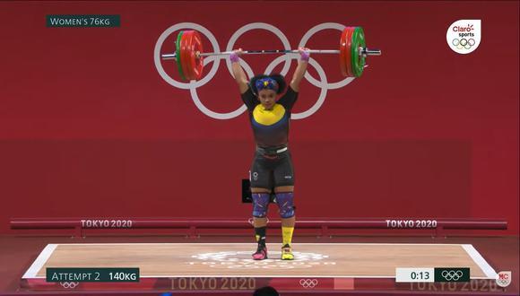 Neisi Dajome ganó la medalla de oro en Tokio 2020. (Foto: Captura Marca Claro)