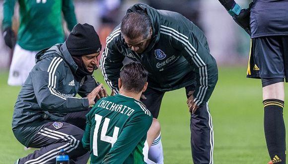 Javier Hernández salió lesionado a los 51 minutos ante Bélgica (Foto: Getty)