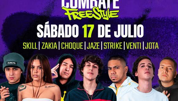 Combate Freestyle 2021: todo sobre el evento que contará con Jaze, Jota, Skill y más MC's del país. (Combate/Space)