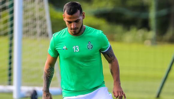 Miguel Trauco trabajó de forma diferenciada tras su lesión. (Foto: Saint-Étienne)