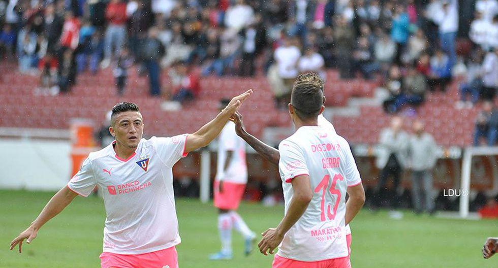 Liga de Quito vs. Emelec: el cuadro albo se quedó con la victoria por 2-0 por Copa Ecuador. | Foto: AFP